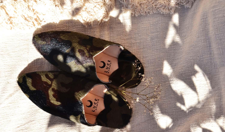 luce fashionvert noir brun babouches au soleil