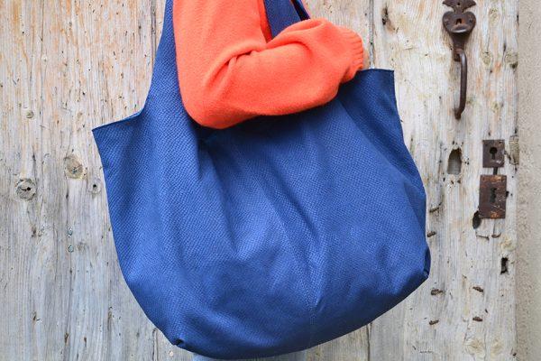 Luce 'sXXL bags blue jean color leather