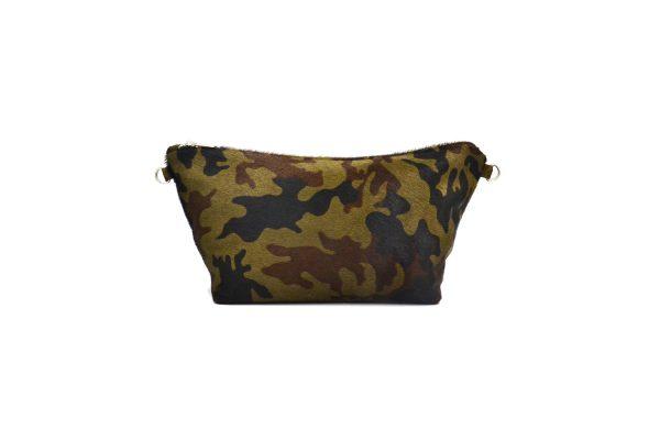 Khaki leather pouche backside