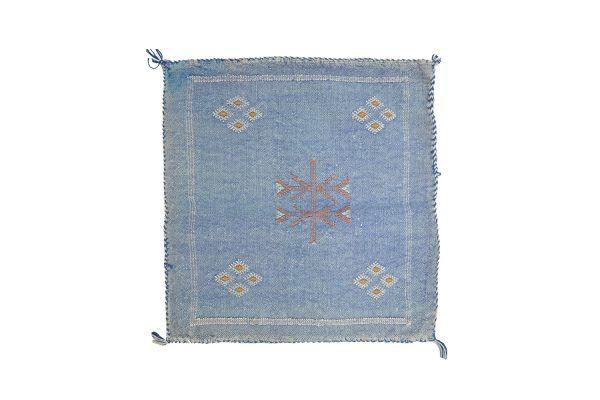 Moroccan cushion cover Sabra kilim natural light blue