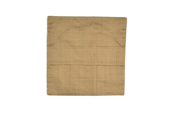 Banjara cushion cover in pure cotton original handmade embroideries, beige, backside