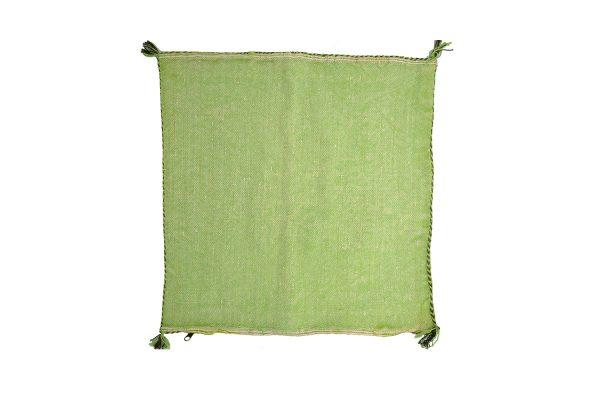 Moroccan cushion cover Sabra kilim natural green
