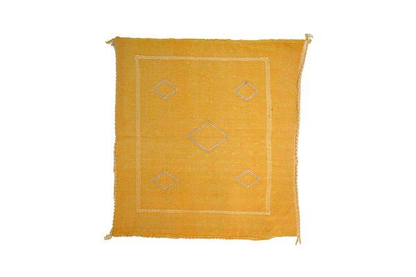 Moroccan cushion cover Sabra kilim natural bright yellow