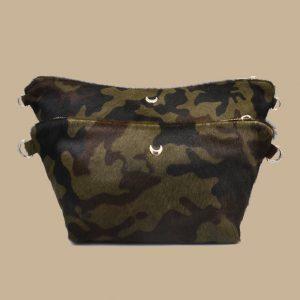 KHAKI leather pouches