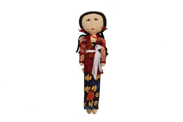 Luce Balenese Merah. Handmade batik fabric dolls