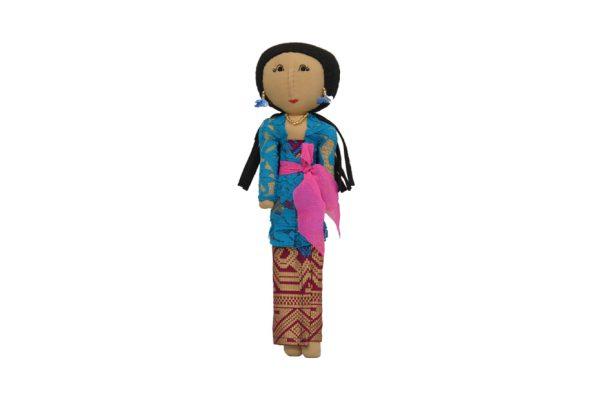 Luce Balenese Pirus. Handmade batik fabric dolls