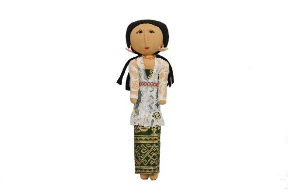 Luce Balenese Putih. Handmade batik fabric dolls