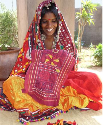 Laxmi the Banjara enbroiderer