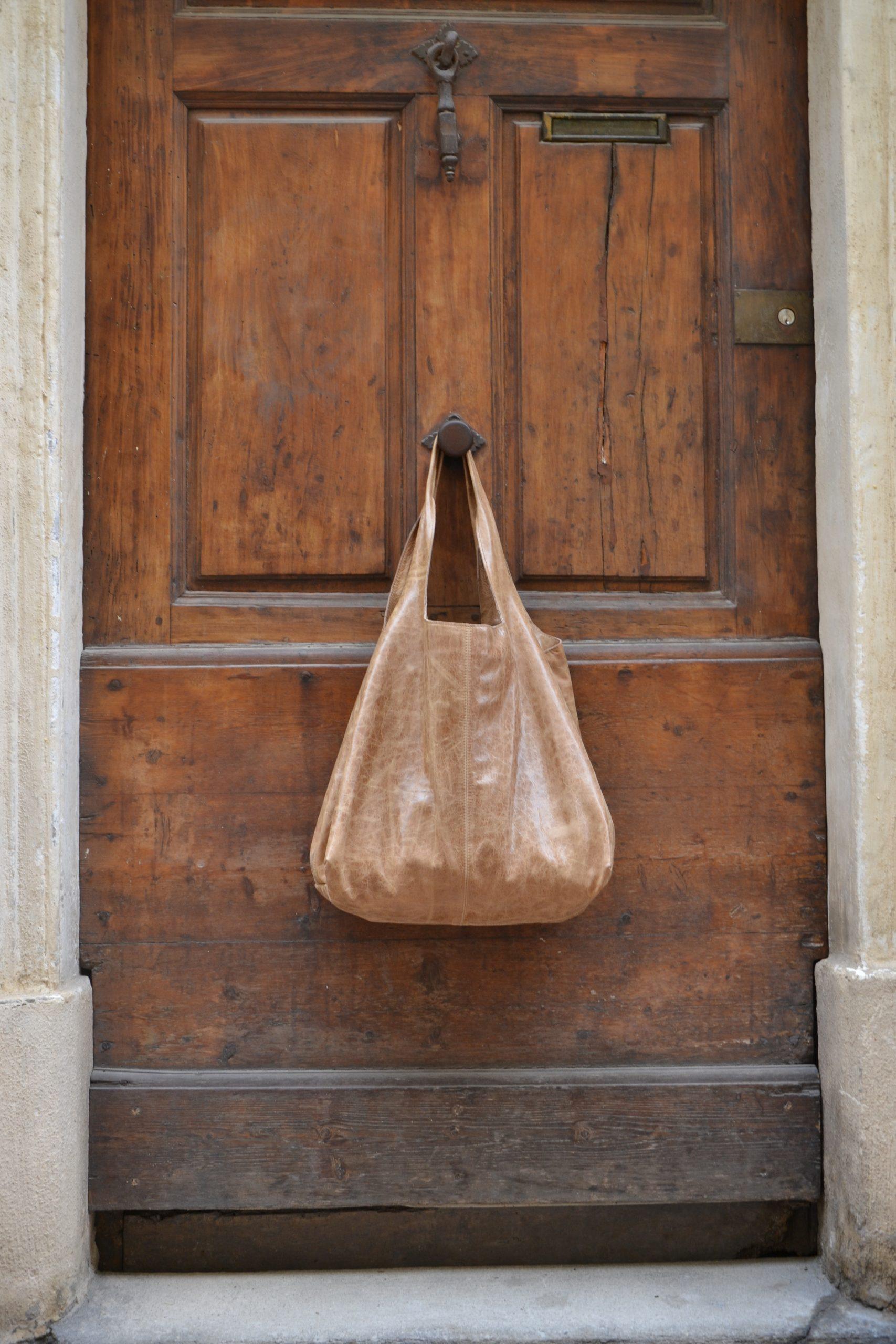 LUCE Overbag Albaniu pure leather handmade