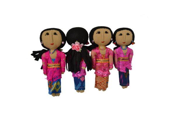 mini Bali dolls handmade in batik
